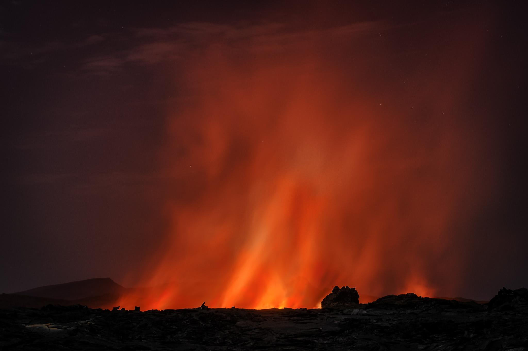 Erta Ale Lake of Fire - Erta Ale 2018 - Neuer Lavasee in der Südcaldera