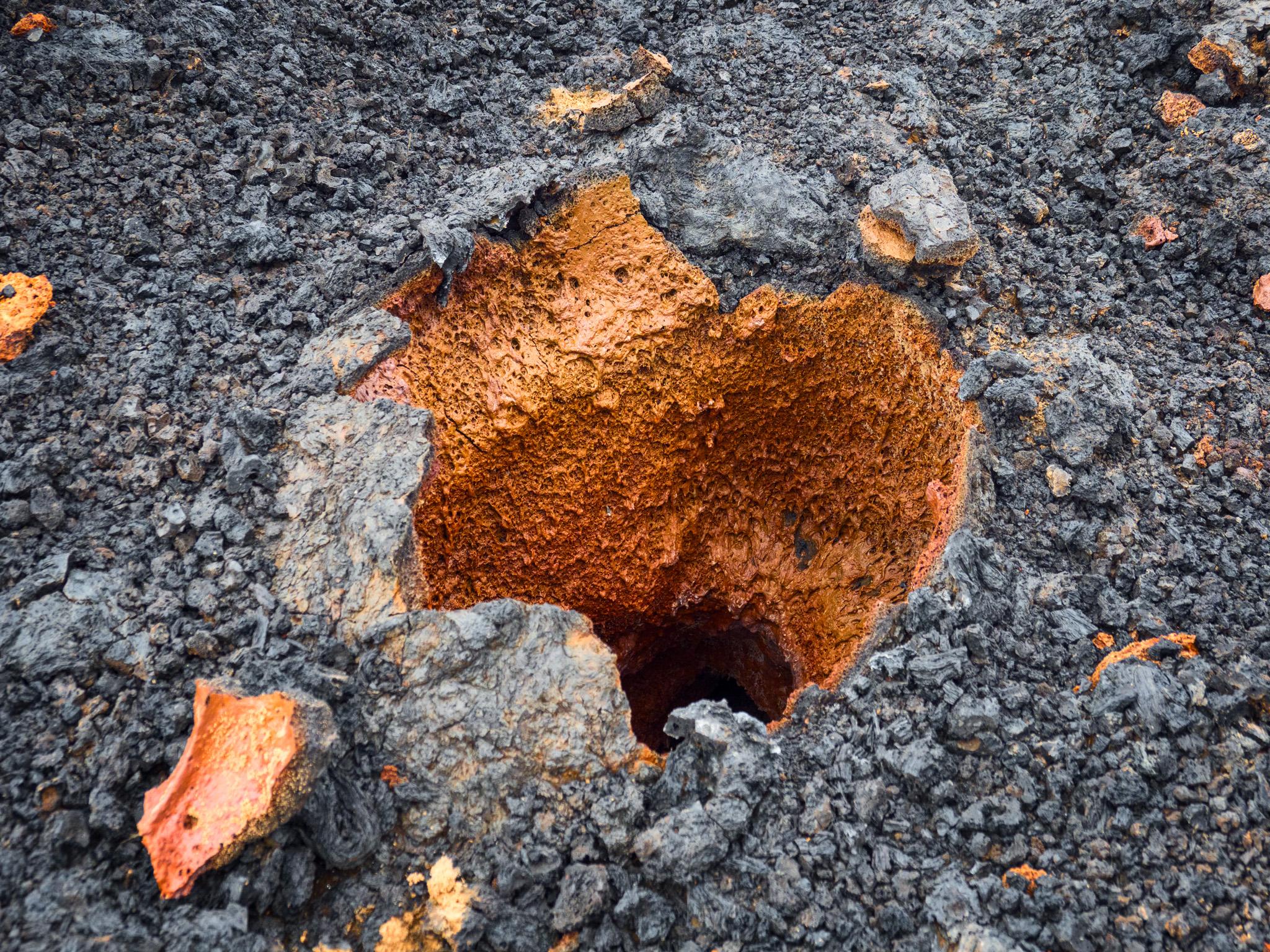 Erta Ale Orange Spatter Hole - Erta Ale 2018 - Neuer Lavasee in der Südcaldera